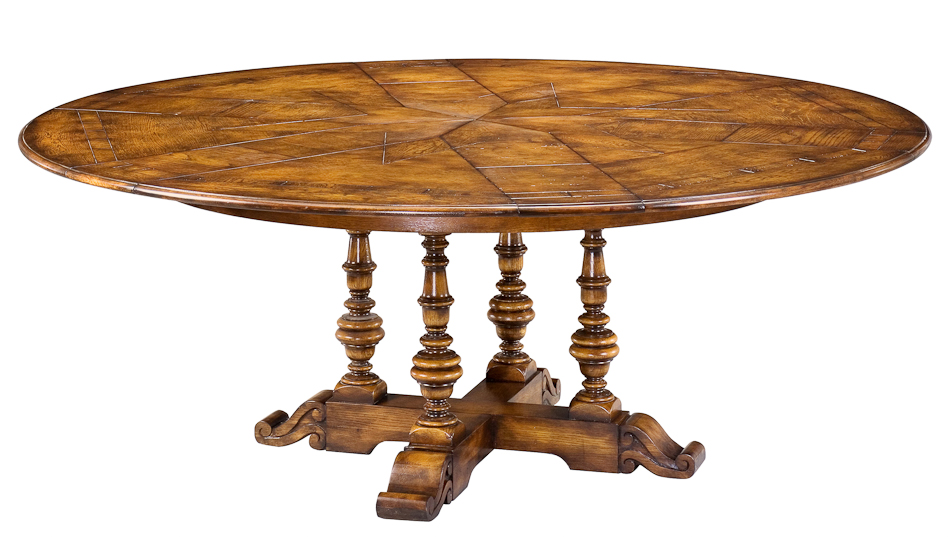 Round Dining Table Antique Styled Oak Jupe Converts 50  : 78 48 from ebay.com size 950 x 537 jpeg 279kB
